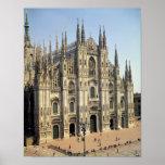 View of the facade, begun 1386 poster
