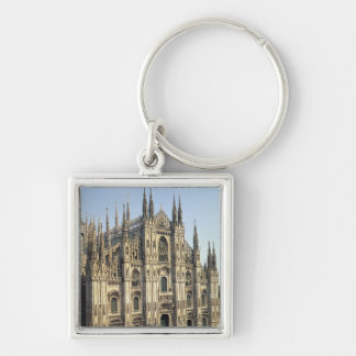 View of the facade, begun 1386 Silver-Colored square key ring