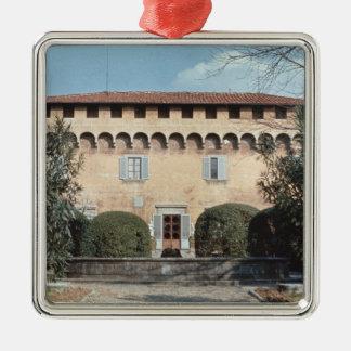 View of the facade, designed for Cosimo Christmas Ornament
