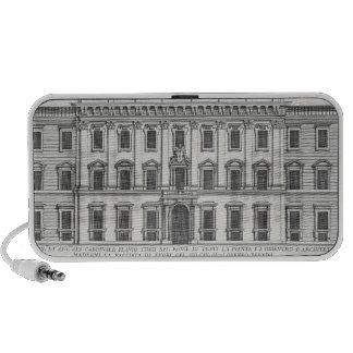 View of the facade of Palazzo Chigi, Rome, designe Laptop Speakers