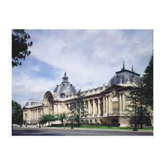 View of the facade of the Petit-Palais Canvas Print