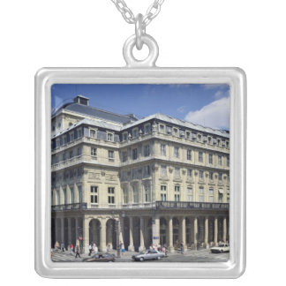 View of the facade of the Theatre Francais Silver Plated Necklace