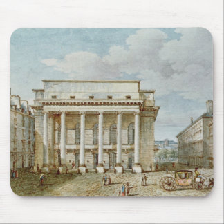 View of the Facade of the Theatre Italien Mouse Mat