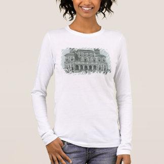 View of the facade of Villa Borghese, Rome (engrav Long Sleeve T-Shirt