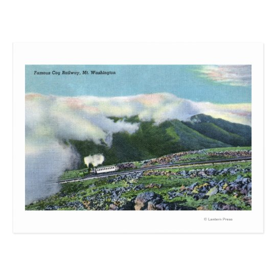 View of the Famous Cog Railway Postcard