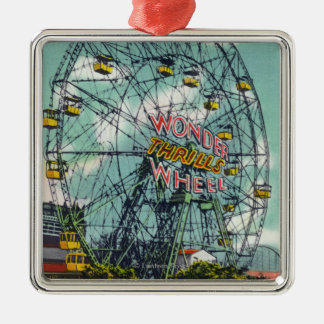 View of the Famous Wonder Ferris Wheel Christmas Ornament