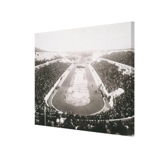 View of the first official Olympic Games in Athens Canvas Print
