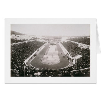 View of the first official Olympic Games in Athens Card