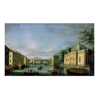 View of the Fontanka River in St Petersburg Poster