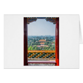 View of the Forbidden City from Jing Shan Greeting Card