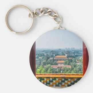 View of the Forbidden City from Jing Shan Key Chain
