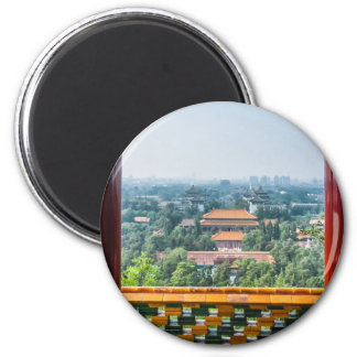 View of the Forbidden City from Jing Shan Magnets