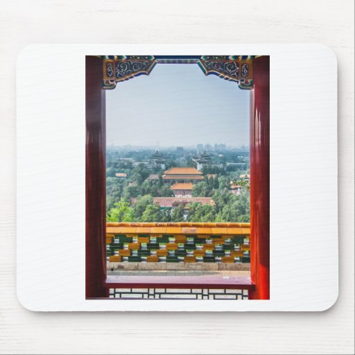 View of the Forbidden City from Jing Shan Mousepads
