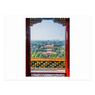 View of the Forbidden City from Jing Shan Postcard