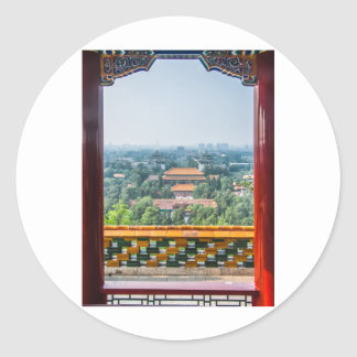 View of the Forbidden City from Jing Shan Round Sticker