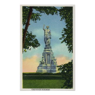 View of the Forefathers Monument # 2 Poster