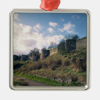 View of the fortifications, 1226-42 christmas ornament