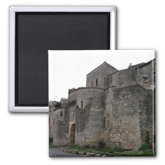 View of the fortified village (photo) 2 fridge magnets