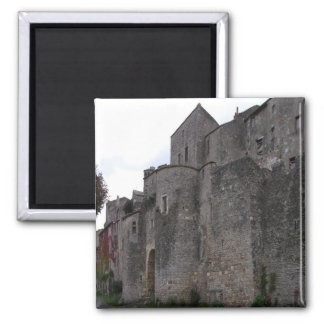 View of the fortified village (photo) 3 square magnet