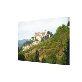 View of the fortified village (photo) canvas print