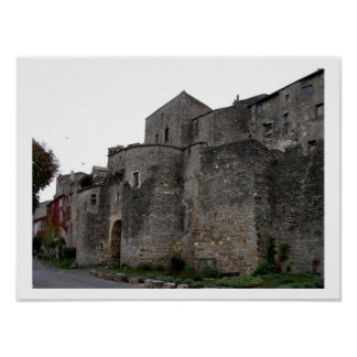 View of the fortified village (photo) poster