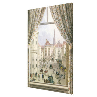 View of the Freyung, Vienna, 1825 (gouache on pape Canvas Print