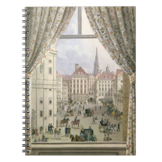 View of the Freyung, Vienna, 1825 (gouache on pape Notebook