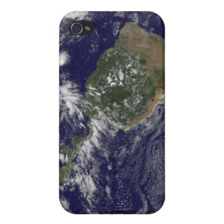 View of the full Earth and four storm systems iPhone 4 Cases