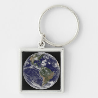 View of the full Earth and four storm systems Key Ring