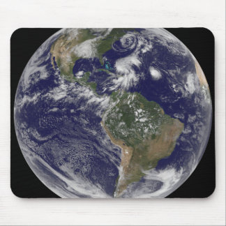 View of the full Earth and four storm systems Mouse Mat