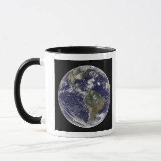 View of the full Earth and four storm systems Mug
