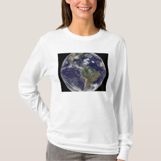 View of the full Earth and four storm systems T-Shirt
