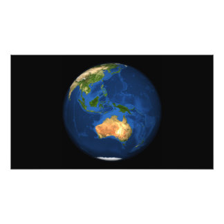 View of the full Earth showing Indonesia, Ocean Photo Print