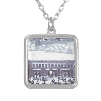 View of the Gagarin's Moscow Mansion Square Pendant Necklace