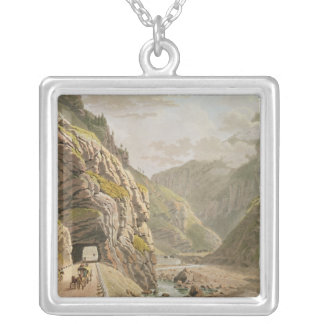 View of the Galerie d'Algaby near Valais Border Silver Plated Necklace