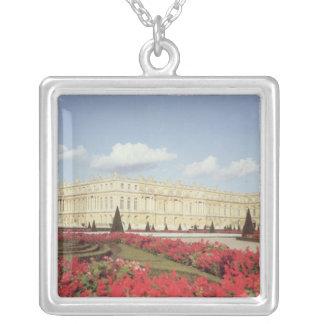 View of the garden facade silver plated necklace