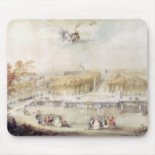 View of the Gardens and the Chateau of Versailles Mouse Mat
