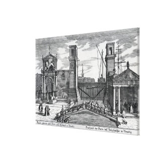 View of the gates at the entrance to Arsenal Canvas Print