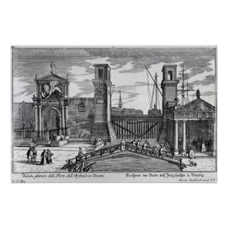 View of the gates at the entrance to Arsenal Poster