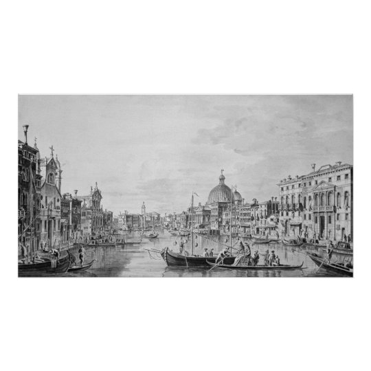 View of the Grand Canal, Venice, c.1800 Poster
