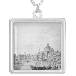 View of the Grand Canal, Venice, c.1800 Silver Plated Necklace