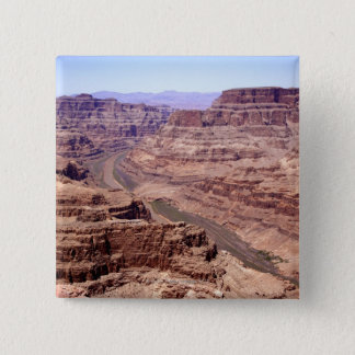 View of the Grand Canyon, Arizona 15 Cm Square Badge