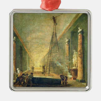 View of the Grand Gallery of the Louvre Christmas Ornament