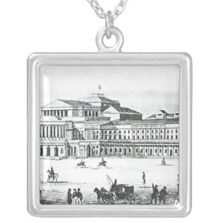 View of the Grand Theatre, Warsaw Silver Plated Necklace