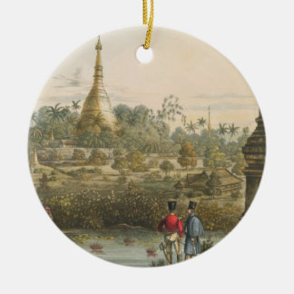 View of the Great Dagon Pagoda at Rangoon from the Christmas Ornament
