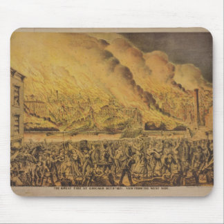 View of the Great Fire of Chicago Mouse Mat
