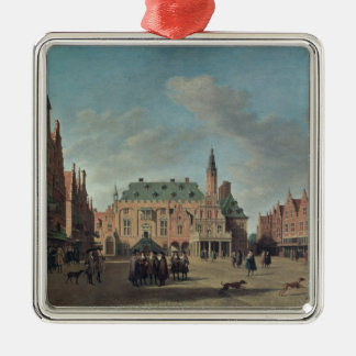 View of the Grote Markt in Haarlem Christmas Ornament
