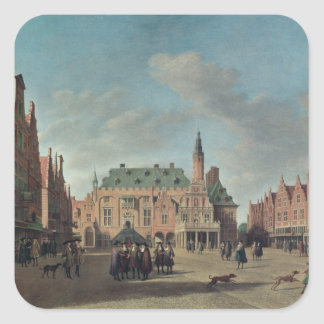 View of the Grote Markt in Haarlem Square Sticker
