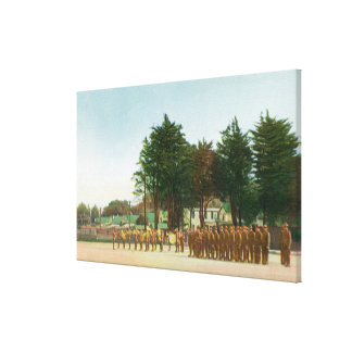 View of the Guard Mount Presidio in Formation Canvas Print