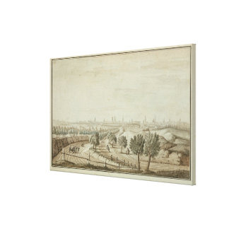 View of the Hallesch Gate Canvas Print